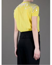 Tory Burch Yellow Embellished Sweater Top