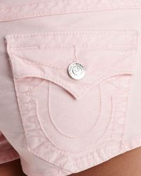True Religion Shorts Joey Corduroy in Baby Pink