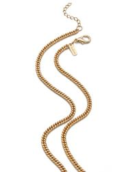 Tuleste - Metallic Trapezoid Necklace - Lyst