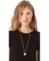Tuleste - Metallic Rosette Scapular Necklace - Lyst