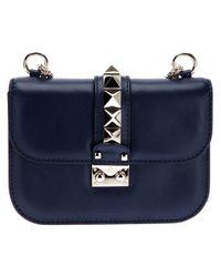 Valentino | Blue Rockstud Shoulder Bag | Lyst