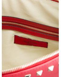 Valentino - Red Rockstud Clutch - Lyst