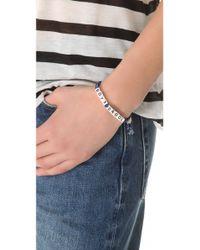 Venessa Arizaga - Blue Boys Drool Bracelet - Lyst