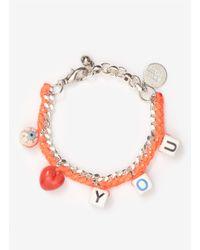 Venessa Arizaga | Orange 'love You' Woven Bracelet | Lyst