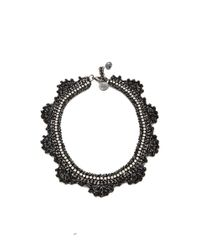 Venessa Arizaga - Black Ziggy Stardust Necklace - Lyst