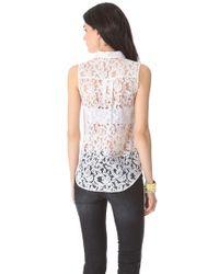 Victoria Beckham White Button Down Shirt