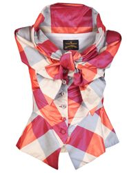 Vivienne Westwood Anglomania Pink Sunday Bow Blouse