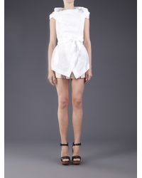 Vivienne Westwood Anglomania White Eyelet Top