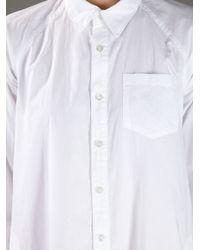 Zucca White Oversize Cotton Shirt Dress