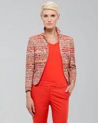 Akris Punto Red Tweed Peplum Jacket