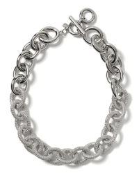 Banana Republic Metallic Silver Link Necklace for men