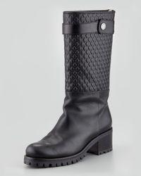 Belstaff - Black Belgrave Quilted Boot - Lyst
