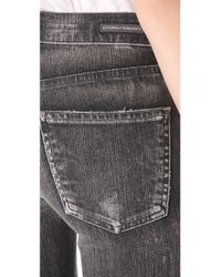 Citizens of Humanity - Black Rocket Distressed Skinny Jeans - Lyst