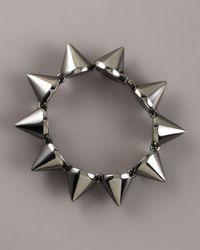 Eddie Borgo   Gray Large Gunmetal Cone Bracelet   Lyst