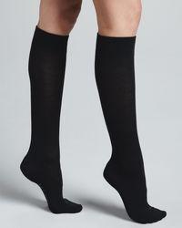 Falke - Gray Textured Band Knee High - Lyst