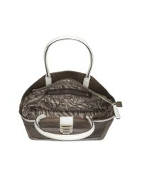 Guess Gray Neta Large Embossed Eco Leather Satchel