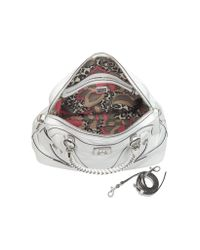 Guess Sidney White Eco Leather Dome Satchel