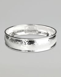 Ippolita | Metallic Wide Hammered Silver Bangle | Lyst