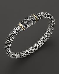John Hardy | Metallic Naga Sterling Silver Medium Chain Bracelet with Black Sapphire | Lyst