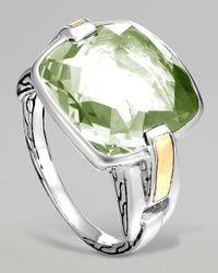 John Hardy - Classic Chain Silver Green Amethyst Ring - Lyst