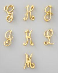Kenneth Jay Lane - Metallic Golden Initial Pin - Lyst