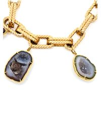 Kimberly Mcdonald - Yellow Gold and Geode Charm Bracelet - Lyst