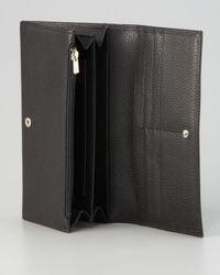 Longchamp Black Veau Foulonne Wallet