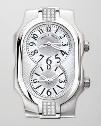 Philip Stein White Womens Small Signature Sport Double 24diamond Watch Head