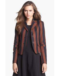 Rachel Roy   Brown Stripe Blazer   Lyst