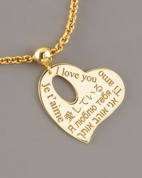 Roberto Coin | Yellow Heart Charm Love Bracelet | Lyst
