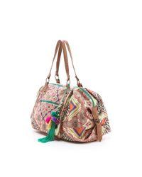 Star Mela Multicolor Nirali Print Weekender Bag