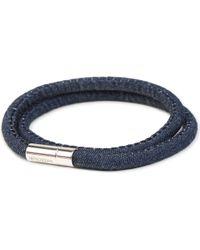 Tateossian | Blue Denim Scoubidou Bracelet | Lyst