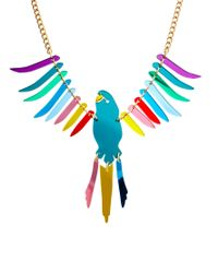 Tatty Devine Multicolor Large Parakeet Necklace