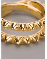 Tom Binns - Metallic Double Pyramid Stud Ring - Lyst