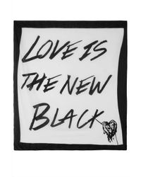 TOPSHOP - Love Is The New Black Scarf - Lyst