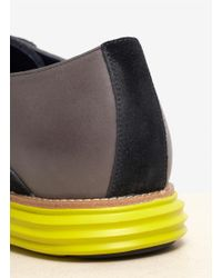 Cole Haan Multicolor Lunargrand Leather-and-suede Saddle Lace-up Shoes for men