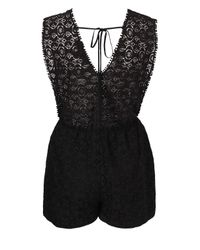 Love - Black Culotte Jumpsuit By - Lyst
