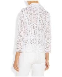 Dolce & Gabbana | White Lace And Silk-Organza Jacket | Lyst
