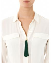 Eddie Borgo - Green Cone Tassel Necklace - Lyst