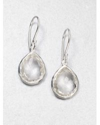 Ippolita | Metallic Clear Quartz Sterling Silver Teardrop Earrings | Lyst