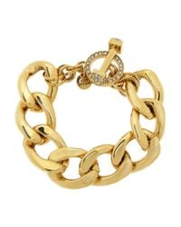 Juicy Couture - Metallic Bluxe Gold Plated Cubic Zirconia Bracelet - Lyst