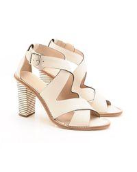 Loeffler Randall Natural Evie Stacked Heel Sandal