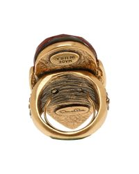 Oscar de la Renta - Red Teardrop Shape Stone Ring - Lyst