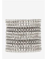 Philippe Audibert | Metallic Five-row Bead And Crystal Bracelet | Lyst