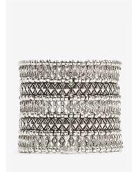 Philippe Audibert - Metallic Five-row Bead And Crystal Bracelet - Lyst