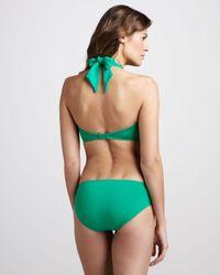 Seafolly Green Goddess Twist Swim Bottom Envy