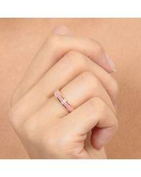 Astley Clarke - Pink Dusky Quartz Enamel Ring - Lyst