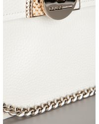 Class Roberto Cavalli White Leather Shoulder Bag