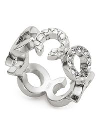 COACH - Metallic Pierced Op Art Ring - Lyst