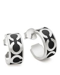 COACH - Metallic Small Op Art Hoop Earrings - Lyst